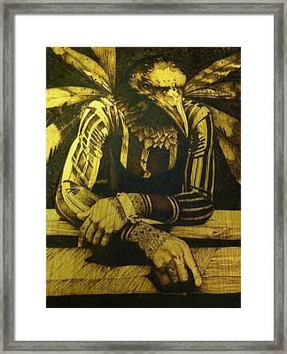 one day I'll fly Framed Print by Marlon Ivory