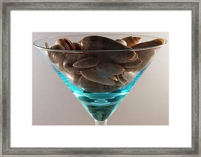 One Dirty Martini Framed Print by Skip Willits