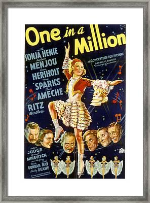 One In A Million, Sonja Henie, 1936 Framed Print by Everett