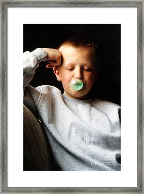 One More Bubble Framed Print by Susan Stevenson