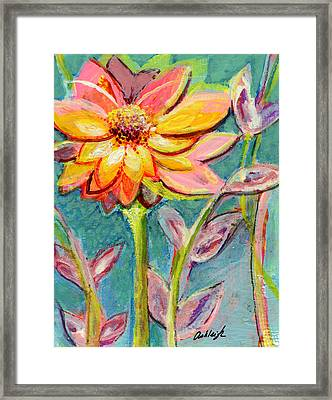 One Pink Flower Framed Print by Ashleigh Dyan Bayer