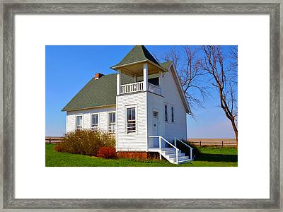One Room School House No.2 Framed Print by Christine Belt