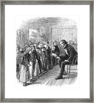 One-room Schoolhouse, 1874 Framed Print by Granger
