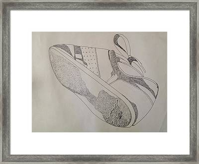 One Tennis Shoe Framed Print by Jona Henshall