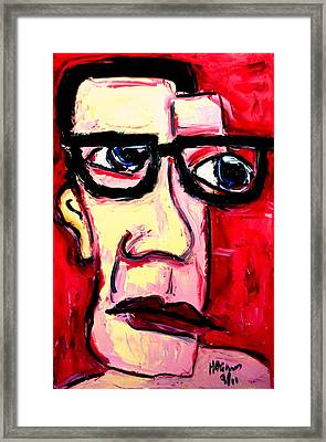 Ooooweeoooo I Look Just Like Buddy Holly Framed Print by Karl Haglund