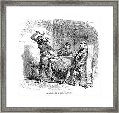 Opechancanough Framed Print by Granger