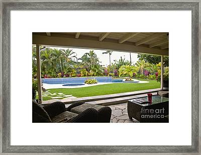 Open Air Luxury Patio Framed Print by Inti St. Clair