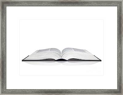 Open Book Framed Print by Richard Thomas