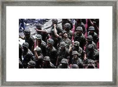 Operation Desert Storm Parade Framed Print by Cindy Roesinger