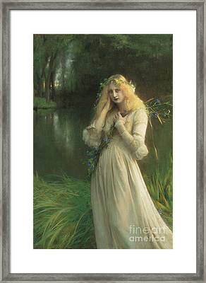 Ophelia Framed Print by Pascal Adolphe Jean Dagnan Bouveret