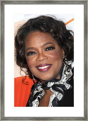 Oprah Winfrey At Arrivals For Essence Framed Print by Everett