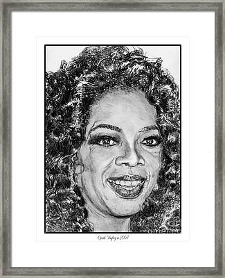 Oprah Winfrey In 2007 Framed Print by J McCombie