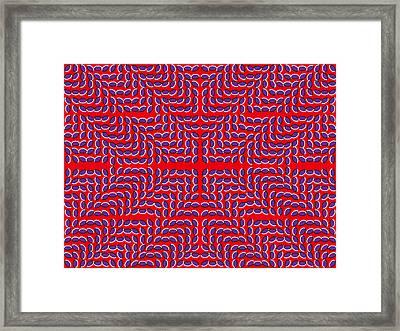 Optical Illusion Mark X Framed Print by Sumit Mehndiratta