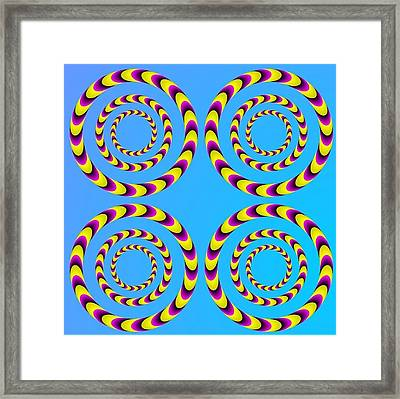 Optical Illusion Spinning Water Lilies Framed Print by Sumit Mehndiratta