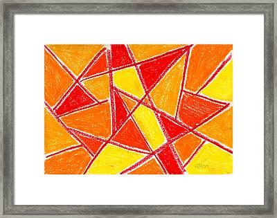 Orange Abstract Framed Print by Hakon Soreide
