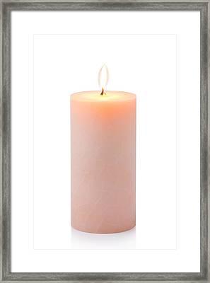 Orange Candle Framed Print by Atiketta Sangasaeng