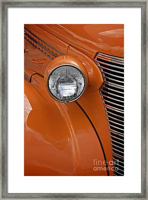 Orange Chevrolet Framed Print by Sherry Davis