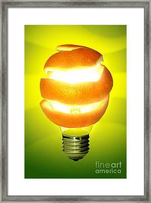 Orange Lamp Framed Print by Carlos Caetano