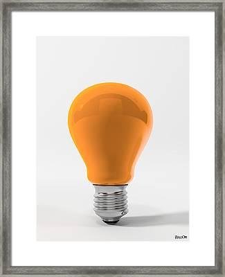Orange Ligth Bulb Framed Print by BaloOm Studios