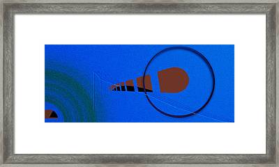 Orange Over Blue Framed Print by Grant  Van Zevern