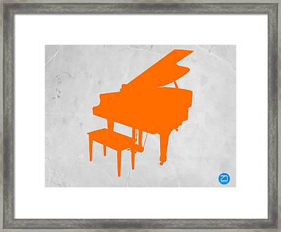 Orange Piano Framed Print by Naxart Studio