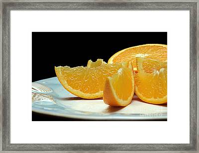 Orange Slices Framed Print by Andee Design
