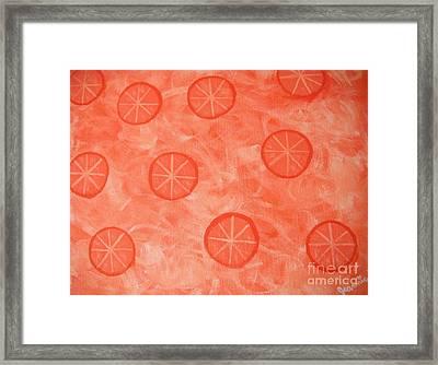 Orange Slices Framed Print by Jeannie Atwater Jordan Allen