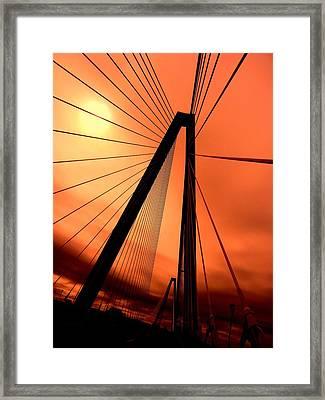 Orange Suspension Framed Print by Sharon Farris