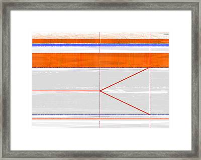 Orange Triangle Framed Print by Naxart Studio