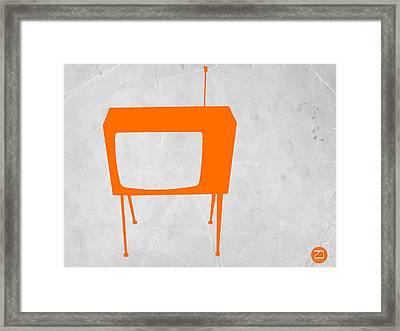 Orange Tv Framed Print by Naxart Studio