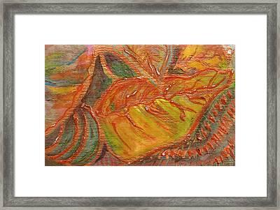 Orange You Glad I Painted Orange Leaf Framed Print by Anne-Elizabeth Whiteway