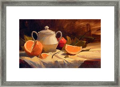 Oranges Framed Print by Richard Robinson