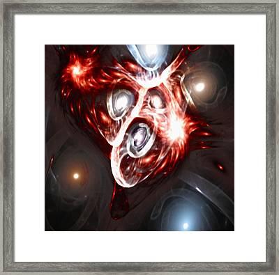 Orbit Explosion - A Fractal Design Framed Print by Gina Lee Manley