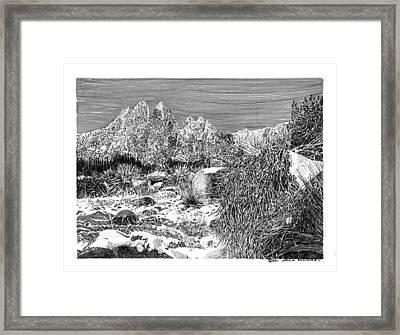 Organ Mountain Wintertime Framed Print by Jack Pumphrey