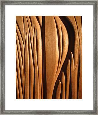 Organic Mahogany Shapes Framed Print by Charles Dancik