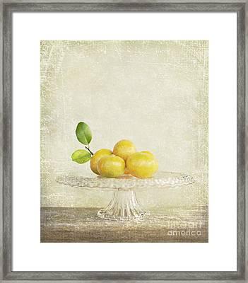 Organic Mandarins Framed Print by Linde Townsend