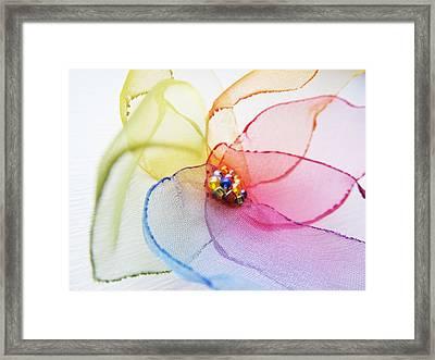 Organza Flower Framed Print by Marianna Mills