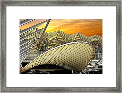 Oriente Station Framed Print by Carlos Caetano