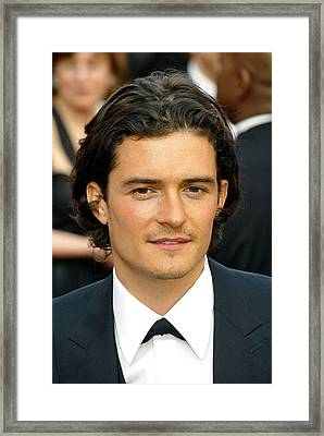 Orlando Bloom At Arrivals For 77th Framed Print by Everett