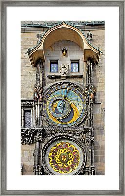 Orloj - Prague Astronomical Clock Framed Print by Christine Till