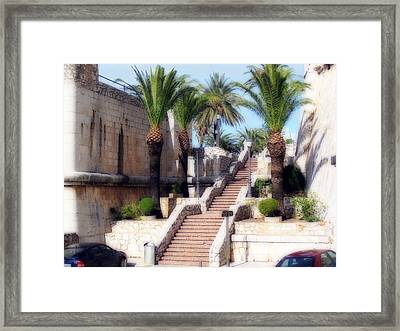 Ornamental Steps Framed Print by Rod Jones