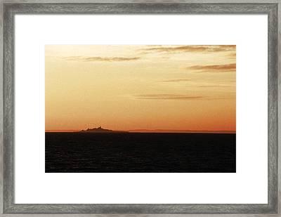 Ornoe At Sunset Framed Print by Jan Faul