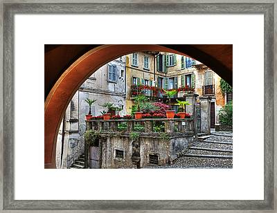 Orta San Giulio In Italy Framed Print by Joana Kruse