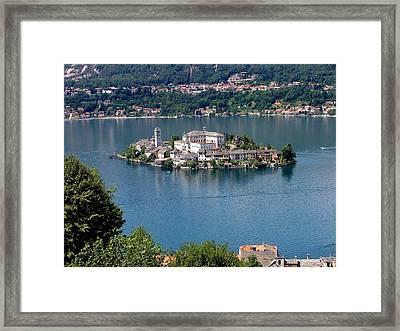 Orta San Giulio Landscape Framed Print by Paolomartinezphotography