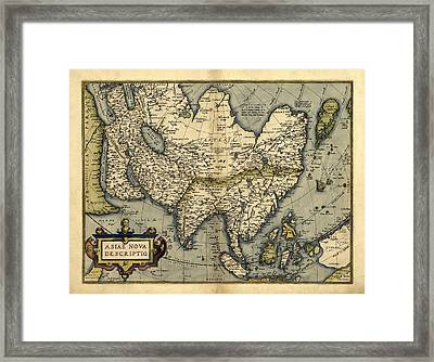Ortelius's Map Of Asia, 1570 Framed Print by Library Of Congress, Geography And Map Division