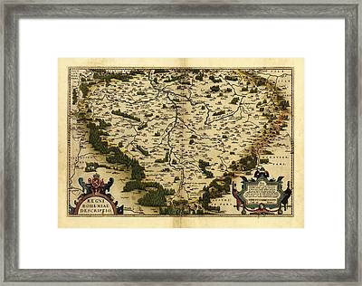 Ortelius's Map Of Bohemia, 1570 Framed Print by Library Of Congress, Geography And Map Division
