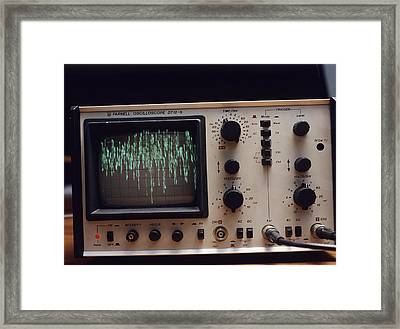 Oscilloscope Framed Print by Andrew Lambert Photography