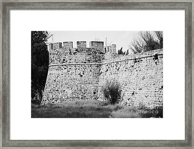 Othello Tower In Old City Walls Looking Out To The Harbour Famagusta Turkish Republic Cyprus Framed Print by Joe Fox