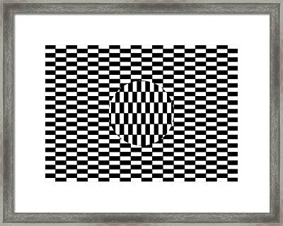 Ouchi Illusion Framed Print by