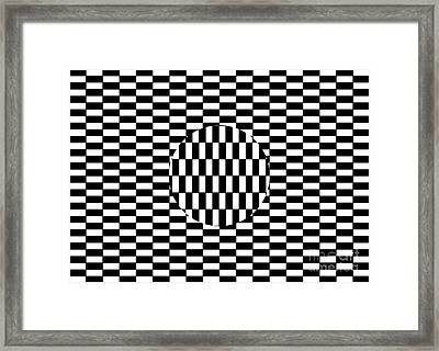 Ouchi Illusion Framed Print by SPL and Photo Researchers